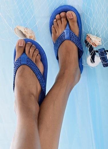 Shoes1441 Terlik Mavi